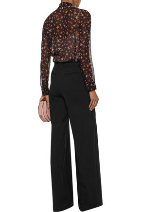 REDValentino Printed silk-georgette blouse