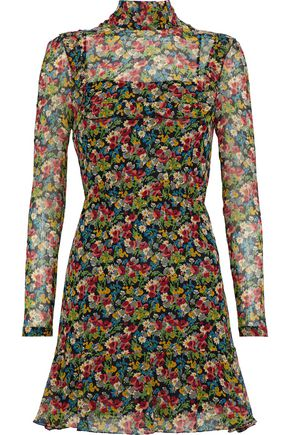 REDValentino Floral-print silk-georgette mini dress