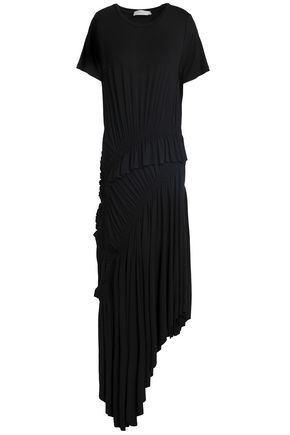 PREEN LINE Alba asymmetric ruched stretch-cotton jersey midi dress