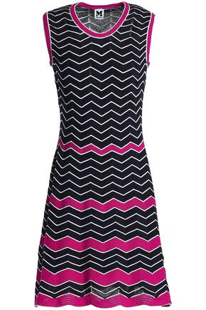 M MISSONI Lattice-trimmed cotton-blend jacquard dress