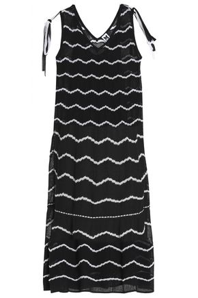 M MISSONI Metallic crochet-knit cotton-blend dress