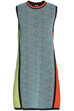 M MISSONI Jacquard-paneled knitted mini dress