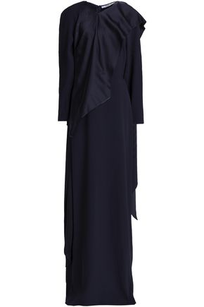 CHALAYAN Layered draped satin and crepe gown