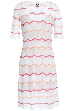 M MISSONI Metallic-trimmed crochet-knit cotton-blend dress