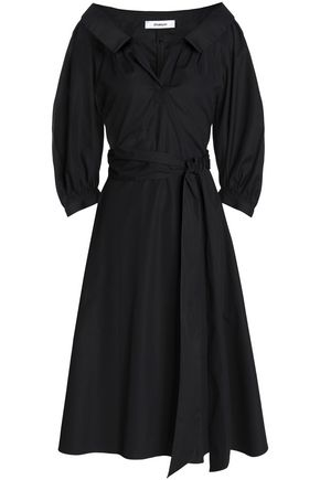 CHALAYAN Belted cotton-poplin shirtdress