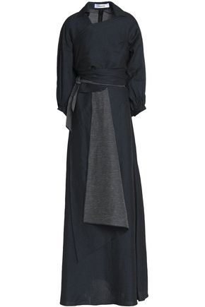 CHALAYAN Embroidered linen-blend maxi dress