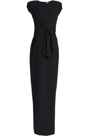 CHALAYAN Belted crepe gown