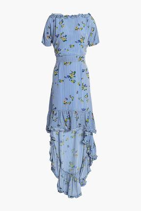 BAUM UND PFERDGARTEN Alvild ruffled-trimmed printed satin-crepe dress