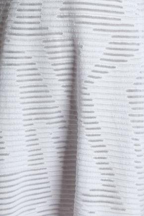 M MISSONI Pleated crochet-knit cotton-blend mini dress