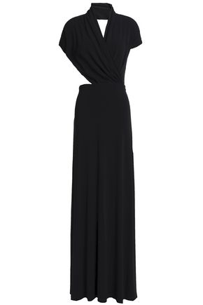 M MISSONI Open-back wrap-effect stretch-jersey gown