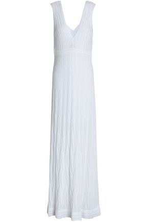 M MISSONI Crochet-knit cotton-blend maxi dress