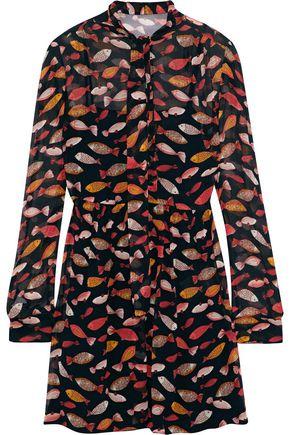 REDValentino Printed silk-georgette mini dress