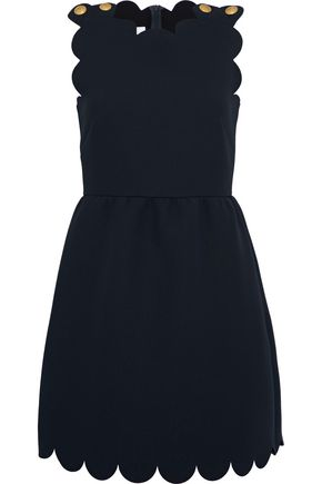 REDValentino Button-detailed crepe mini dress