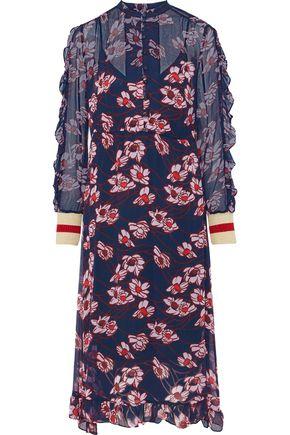 BAUM UND PFERDGARTEN Abbia floral-print georgette midi dress
