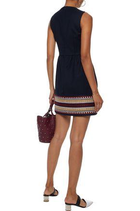 REDValentino Embroidered twill mini dress