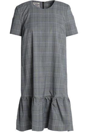 BAUM UND PFERDGARTEN Ruffled Prince of Wales cotton-blend mini dress