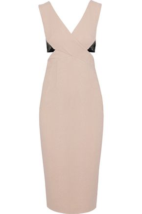 RACHEL GILBERT Kader cutout two-tone crepe-cloqué dress