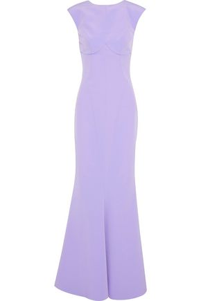 RACHEL GILBERT Elle fluted satin-crepe gown