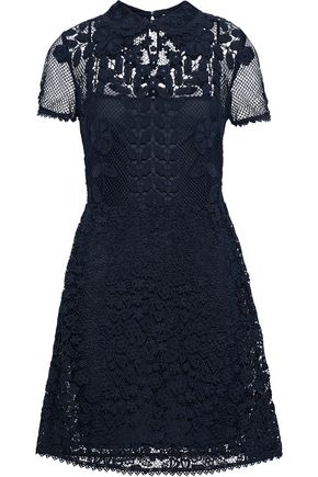 REDValentino Cotton-blend corded lace mini dress