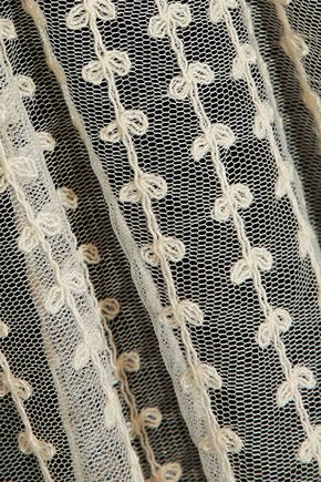 REDValentino Embroidered tulle mini dress