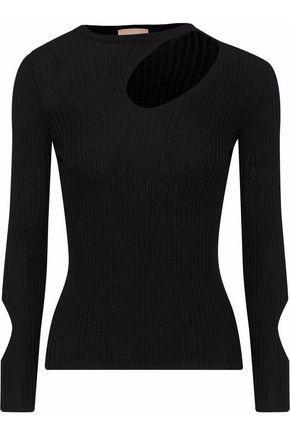 DROMe Cutout ribbed-knit top