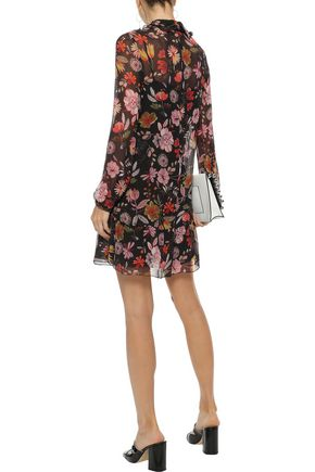 REDValentino Floral-print silk-georgette mini dress