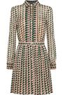 REDValentino Pleated printed silk-blend mini dress