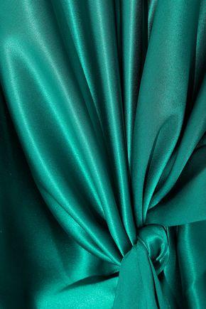 VIONNET Tie-front silk-satin dress