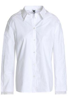 M MISSONI Organza-paneled stretch-cotton poplin shirt