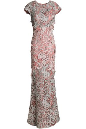 J.MENDEL Metallic lace gown