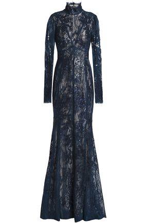 9065ddfaa74 J.MENDEL Embellished embroidered cotton-blend lace gown