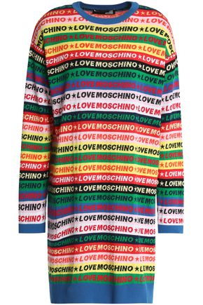 LOVE MOSCHINO Cotton-jacquard mini dress
