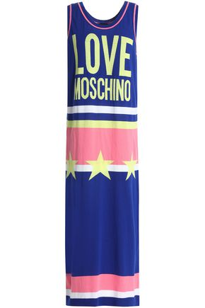 LOVE MOSCHINO Intarsia cotton midi dress