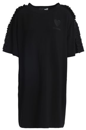 LOVE MOSCHINO Ruffle-trimmed stretch-jersey mini dress