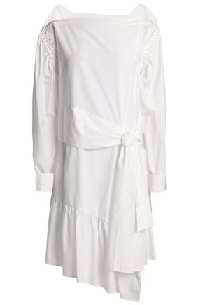 3.1 PHILLIP LIM Asymmetric belted cotton-poplin mini dress