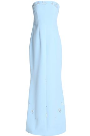 SAFIYAA Embellished fluted crepe gown
