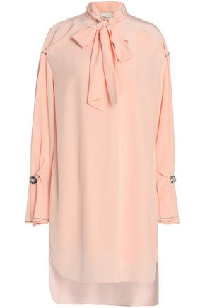 3.1 PHILLIP LIM Pussy-bow silk crepe de chine mini dress