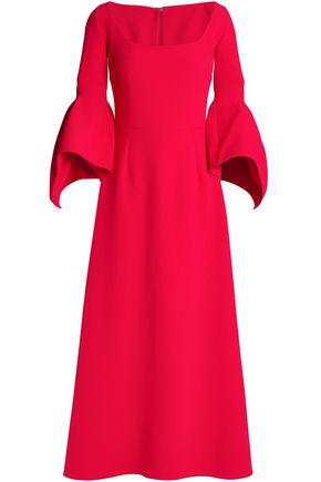 SAFIYAA Fluted crepe midi dress