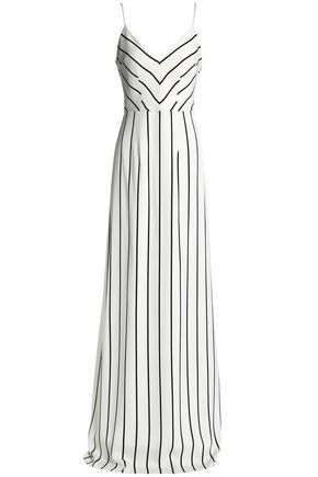 SAFIYAA Striped crepe gown