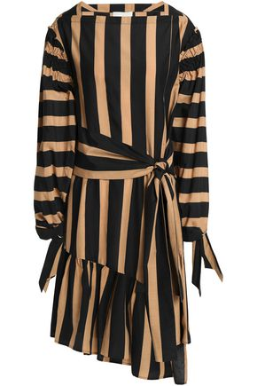 3.1 PHILLIP LIM Asymmetric striped cotton and silk-blend mini dress