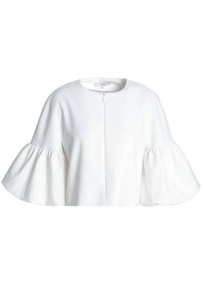 TIBI Fluted neoprene top