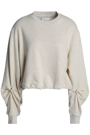 3.1 PHILLIP LIM Barbell-embellished French cotton-terry sweatshirt