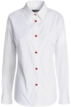 LOVE MOSCHINO Stretch-cotton poplin shirt