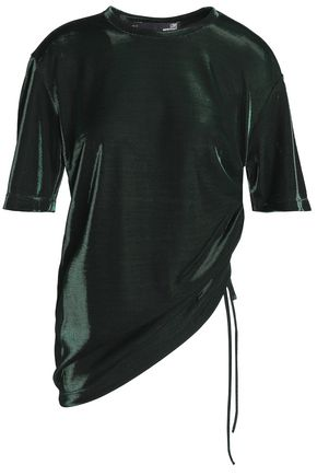 LOVE MOSCHINO Ruched lam� top