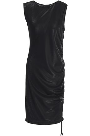 LOVE MOSCHINO Ruched lam� dress