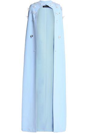SAFIYAA Appliquéd crepe cape