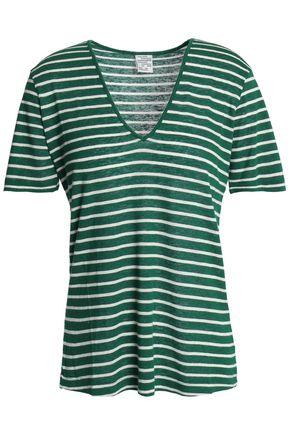 BAUM UND PFERDGARTEN Striped slub jersey T-shirt