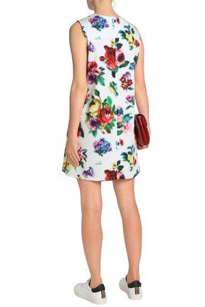 LOVE MOSCHINO Printed stretch-cotton mini dress