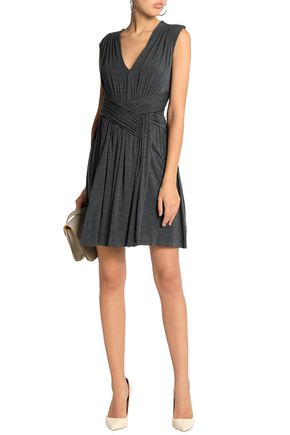 fea71bb994c BAILEY 44 Ruched mélange stretch-jersey mini dress