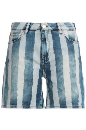 LOVE MOSCHINO Striped denim shorts